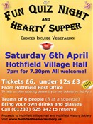 Fun Quiz Night & Hearty Supper, 6th April