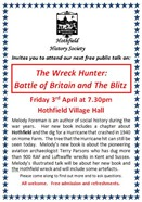 Advert: The Wreck Hunter: Battle of Britain and The Blitz - Free Talk