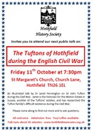 Advert: The Tufton Family of Hothfield during the Civil War