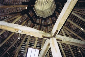 Photo:Looking up into the lantern where the doves would have originally flown in