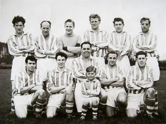 Photo:One of Hothfield's football squads in the 1960s