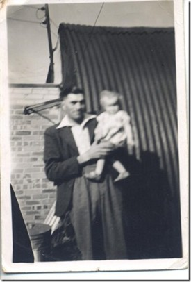Photo:Baby Linda around 1948 with her dad Bill