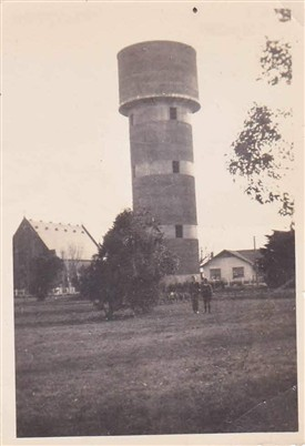 Photo:Unknown water tower - possibly at an airfield? but where in the world?