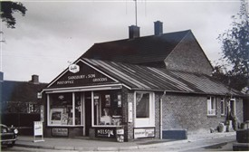 Photo:Mr Sainsbury's shop in the 1950s